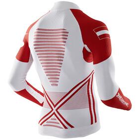 X-Bionic Patriot Accumulator EVO Austria Ski UW - Camiseta de manga larga Hombre - rojo/blanco